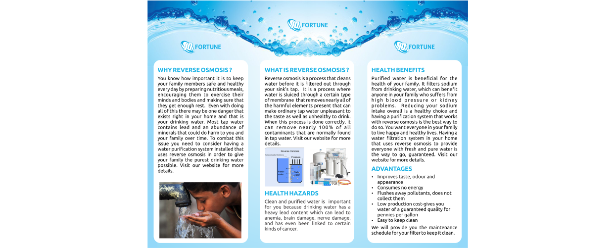 Water Filter Brochure